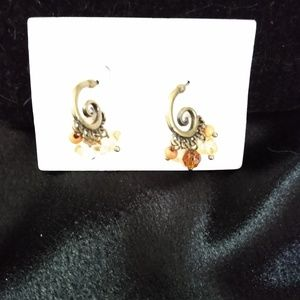 Lia Sophia Peach & Yellow Swirl Earrings
